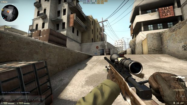 Un momento di gioco di Counter-Strike: Global Offensive di Valve.