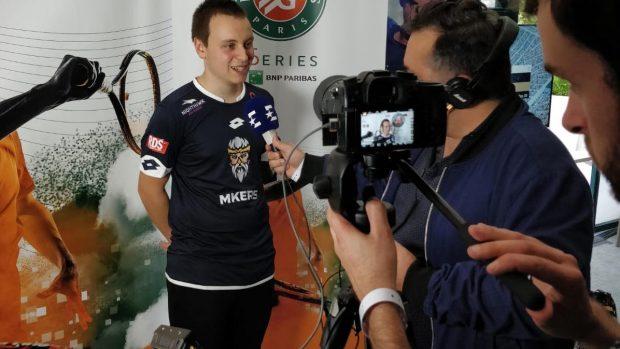 Lorenzo Cioffi del team Mkers intervistato dopo il risultato ottenuto al Roland-Garros eSeries.