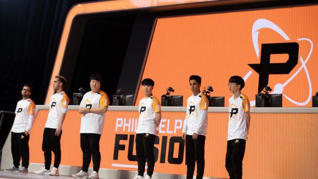 I Philadelphia Fusion durante la presentazione.