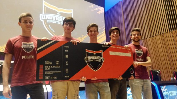 Ecco i vincitori del quinto University Esports Series, il Politecnico di Torino.