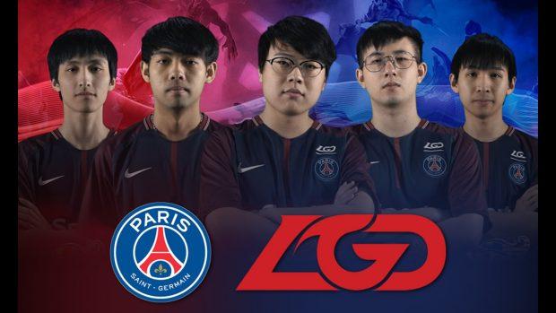 Il team cinese LGD da aprile è in partnership con il Paris Saint Germaine.