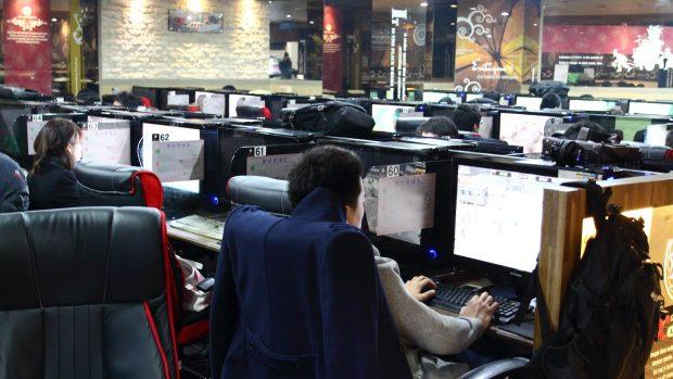 """Un tipico caffè digitale, cosiddetto """"Pc Bang"""", a Seoul."""