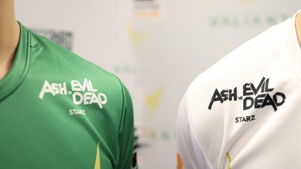 Le divise possono veicolare la visibilità di un particolare prodotto, come la serie Ash vs. Evil Dead sulle maglie dei L.A. Valiant.