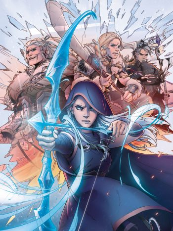La copertina del primo comic di Marvel dedicato a League of Legends.