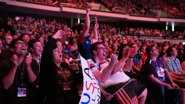 L'arena da 7000 posti dell'Anaheim Convention Center ospita la Overwatch World Cup. E gli spalti sono costantemente gremiti.