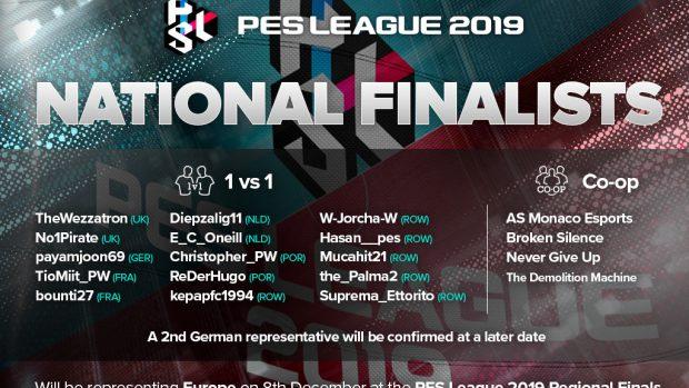 La lista dei partecipanti alla PES League Regional Finals.