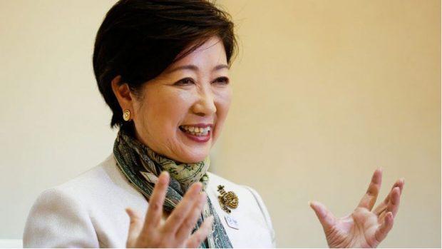La Governatrice di Tokyo Yuriko Koike.
