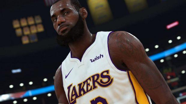 Un'immagine della grafica di NBA 2K19.