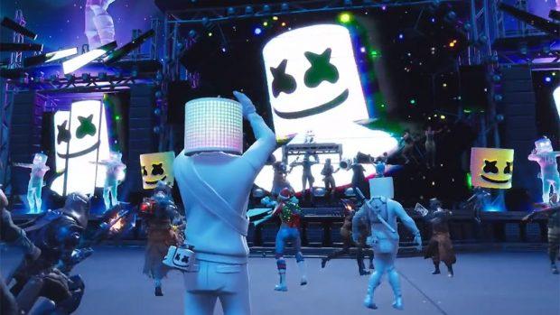 Un'immagine del concerto in game del popolare DJ/producer a Parco Pacifico.