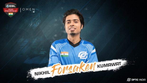 """Nikhil """"Forsaken"""" Kumawat, l'ormai ex giocatore degli OpTic India, bannato da ogni competizione per un software irregolare usato all'eXTREMELAND ZOWIE Asia a Shanghai."""