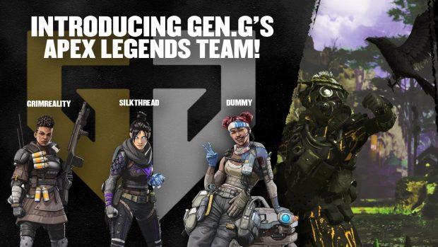 La formazione del team Gen. G di Apex Legends.