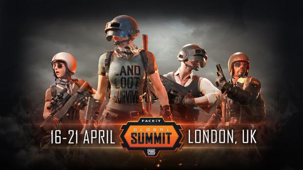 Il PUBG Global Summit organizzato da FaceIT si terrà a Londra ad aprile.