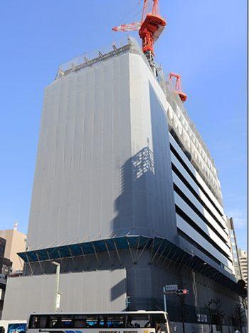 I lavori per il palazzo a Ginza sono già iniziati. La fine del cantiere è prevista a novembre.