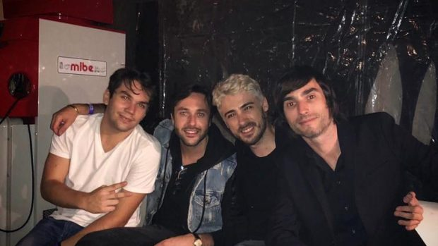 Da sinistra, Hal, Stermy, Pow3r e V1ci0us in una foto scattata ad Ottobre durante Milan Games Week