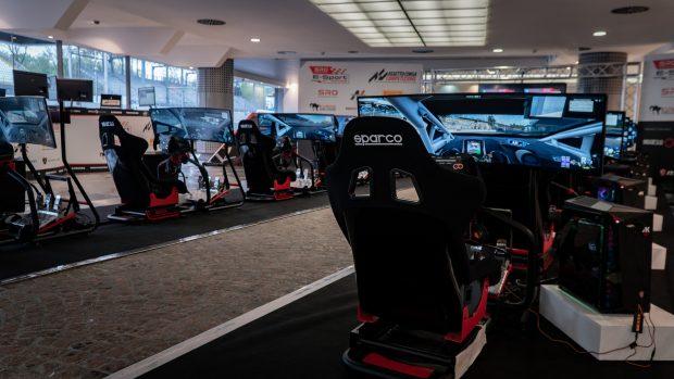 Le postazioni su cui si disputerà la tappa di Monza della SRO E-Sport GT Series.