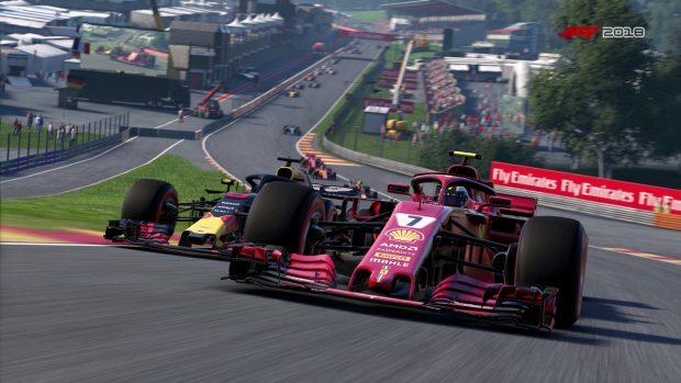 Un esempio della grafica di F1 2017.